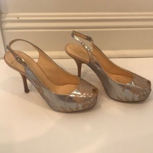 Platform lace shoes. Gently used